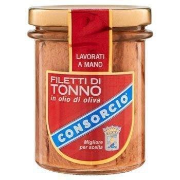 Tonno-in-scatola---Consorcio-Filetti-di-Tonno,-in-Olio-di-Oliva---195-gr
