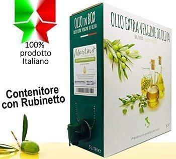 Olio extravergine di oliva - 5 litri di 100% Italiano Olio Extravergine di Oliva