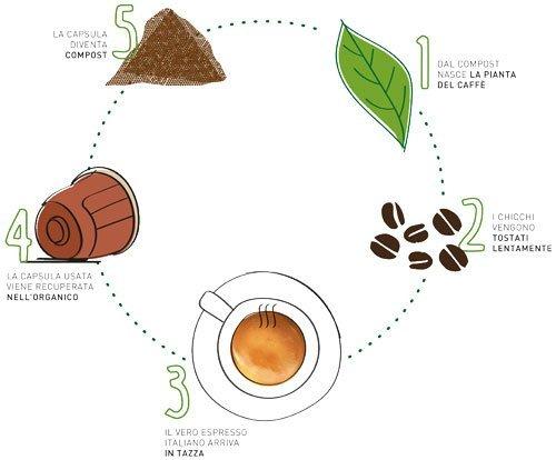 Capsule Caffè - Bevi compostabilmente - Fonte Vergnano
