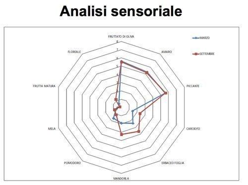 Olio extravergine di oliva - Esempio di analisi sensoriale