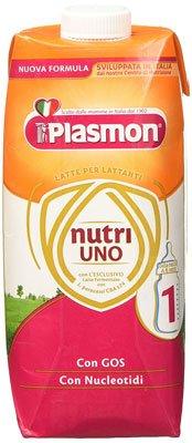 Latte artificiale migliore - Plasmon Latte Liquido Nutri Uno - 12 Confezioni da 500 ml, Totale- 6 L