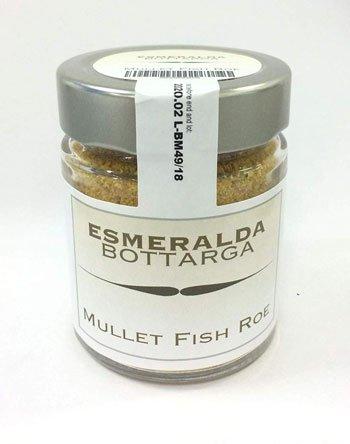 Migliore Bottarga di Muggine - Bottarga Esmeralda grattugiata in barattolo - Caviale del Mediterraneo