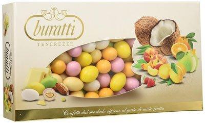 Migliori confetti - Buratti Confetti con Ripieno alla Frutta, Gusti Assortiti, Tenerezze Misto Frutta Colorati