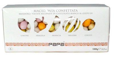Migliori confetti - Papa DolceAmaro Confetti Confettata Macedonia 5 Gusti 1Kg