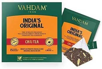 Tè nero - VAHDAM, bustine di tè originali Masala Chai Latte dell'India