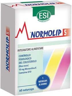 Riso rosso fermentato integratore colesterolo - Esi Normolip 5-60 Naturcaps