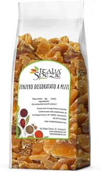 Zenzero migliore - ITALIA SPEZIE - Zenzero disidratato 100% Naturale a pezzi 2 Kg