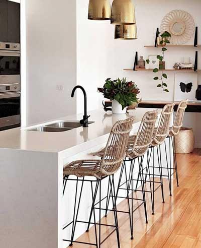 Sgabelli cucina di design acciaio