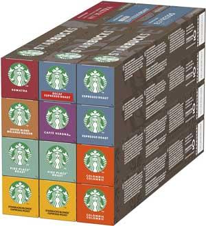 Starbucks Caffè di Nespresso Assortita, Confezione da 12